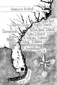 Pirates of Savannah - Coastal Map 1733